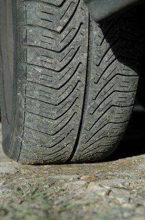 Close-up of slightly worn car tire tread. Stock Photo - 770290