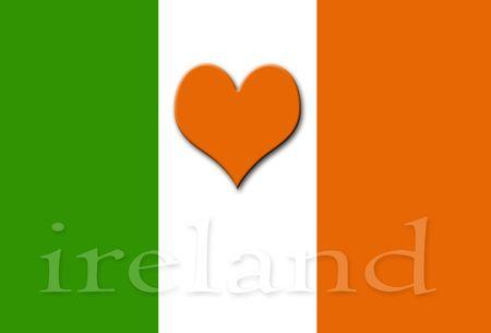 The Heart of Ireland illustration. illustration