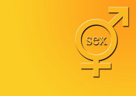 Ilustraci�n del s�mbolo para el var�n y hembra con el texto. Foto de archivo - 792955