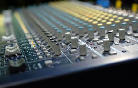soundboard: Soundboard with shallow depth of field Stock Photo