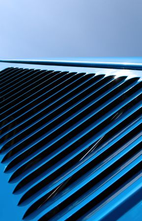 hood vent abstract on hot rod Stock Photo