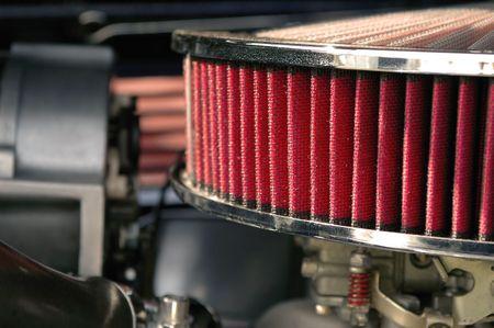 airflow: close-up of hot rod air intake filter