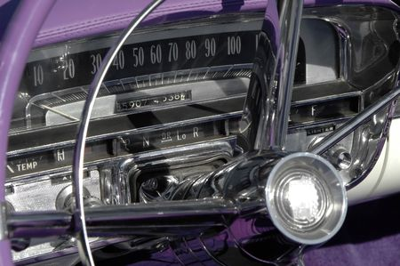 vintage dashboard on 1950's classic car Stock Photo - 897841