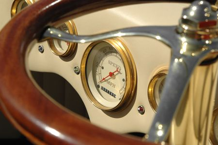 retro dials on reconditioned classic car Stock Photo - 897844