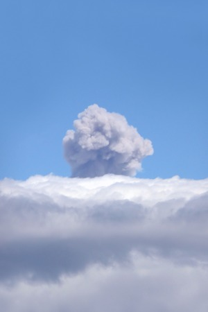 active volcano: ash plume from active volcano