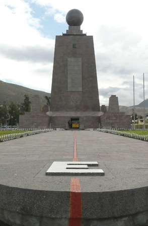 divide: equator line monument in south america