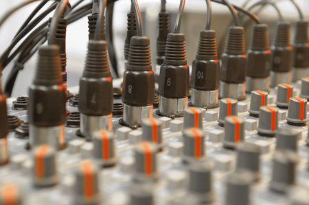 soundboard: audio inputs into studio soundboard