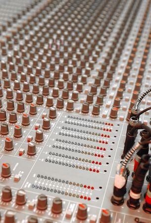 soundboard: studio soundboard equipment Stock Photo