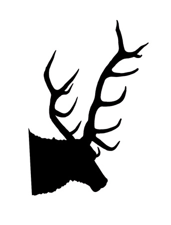 antlers silhouette: trophy head of a stag