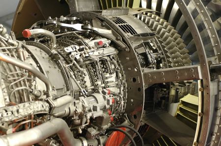 are thrust: detail of a power comercial jet engine