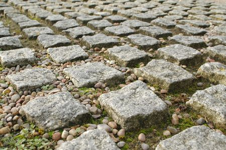 textured block paving perspective Stock Photo - 2362687