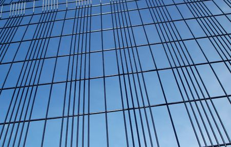 security fencing abstract against blue sky Stock Photo - 2384587