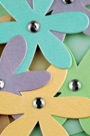 cutouts: colorful cardboard daisy cut-outs