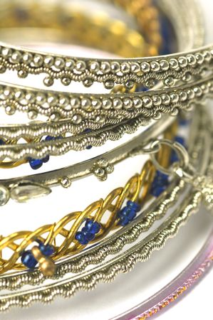 ethic: collection of asian crafted costume fashion bangles