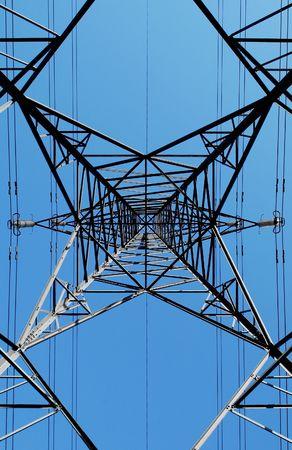 electricity pylon abstract on blue sky