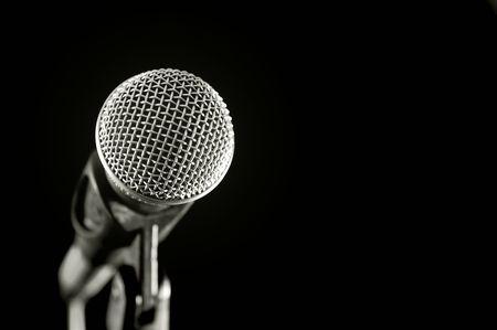 voices: Vocal micr�fono aislados en negro