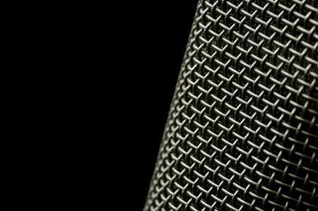 microphone macro abstract on black Stock Photo - 2673817