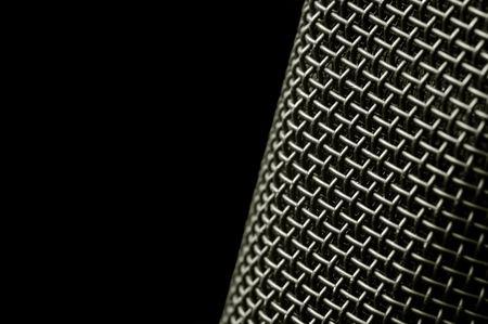 microphone macro abstract on black Stock Photo - 2673817