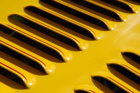 colorful sports car engine vent close-up Stock Photo - 2834396