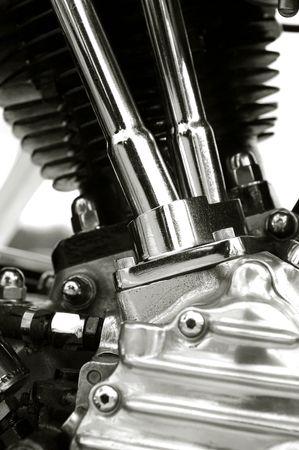 chromed motorcycle engine close-up Stock Photo - 2934202