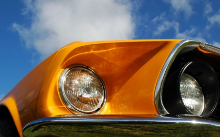 custom car: colorful classic american muscle car abstract