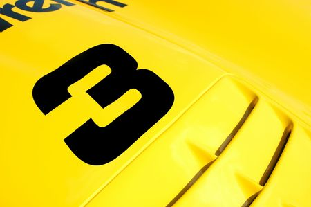 colorful race car close-up Stock Photo - 2956706
