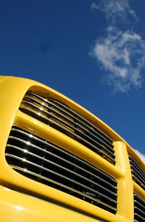 pickups: colorful truck grill close-up against blue sky