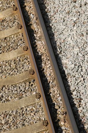 sleepers: elevated rail track abstract