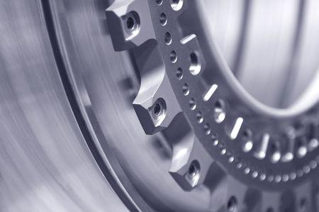 metallico di fondo che rappresentano la meccanica di precisione