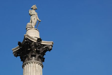 nelsons column memorial statue in london photo