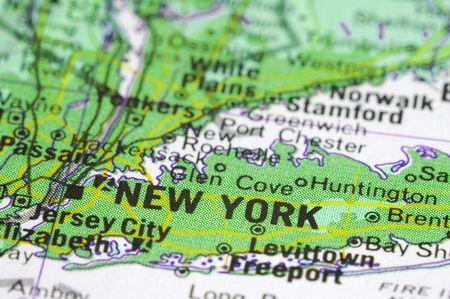 new york map: New York environmentaly green map concept Stock Photo
