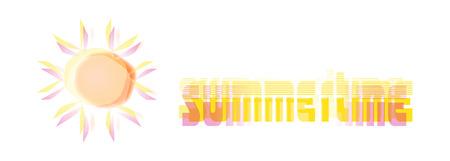 glowing sun summertime illustration Stock Vector - 3861401