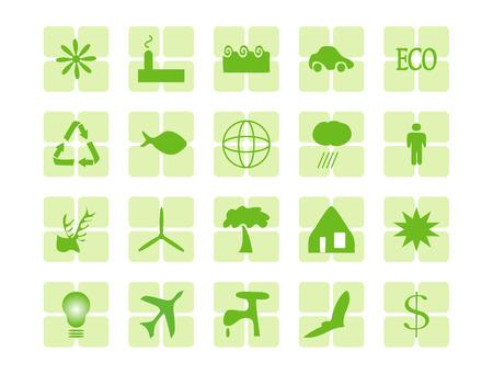 icono contaminacion: medio ambiente tem�ticas web botones en verde