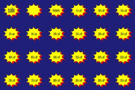 bomb price: colorful bomb blast percentage sale stickers