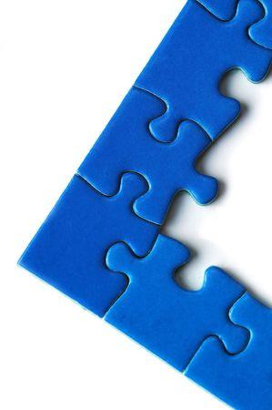 jigsaw puzzle edge pieces on white Stock Photo - 4251557