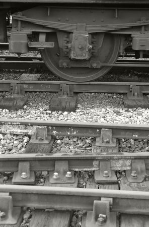 sleepers: vintage railway carriage rolling stock and track