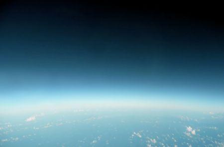 oxygene: edge of space blue horizon