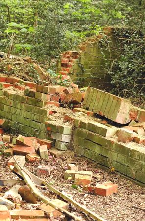 demolished brick wall architectural structure Stock Photo - 4716438