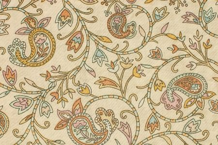 printed material: colorful paisley print fabric background