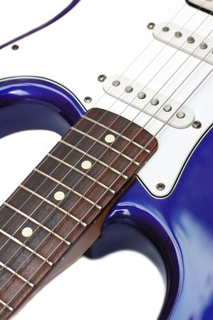 pickups: vintage electric guitar with rosewood fretboard Stock Photo