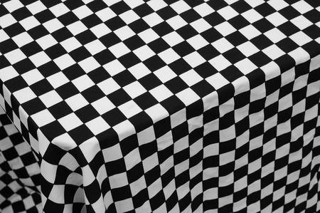 black and white checkered cloth background photo