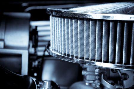 vent: performance engine air intake filter and carburetor