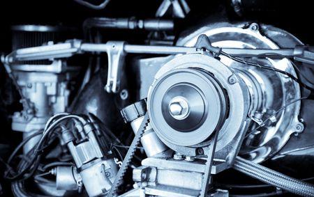 1960's vintage RV camper van engine Stock Photo - 5873766