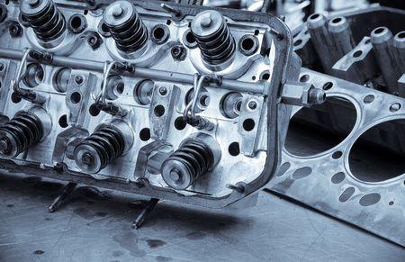 performance race car engine parts detail