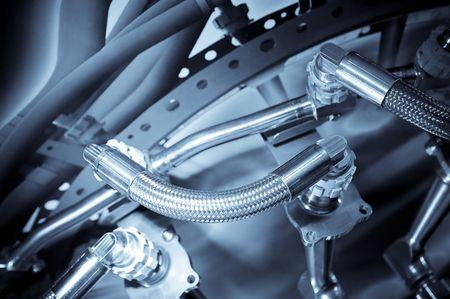 Hydraulische Leitungen in der Luftfahrtindustrie verwendet