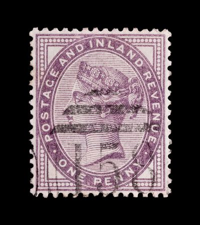 Victorian penny lilac postage stamp; circa 1890 Stock Photo - 6000777