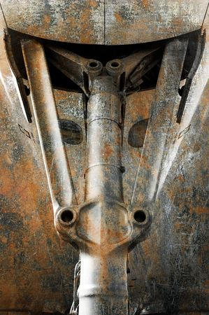 undercarriage: grunge abstract of an aircraft undercarriage