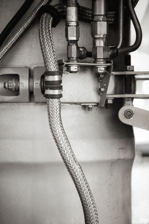 hydraulische Rohre und die Komponenten in ein Flugzeug-Jet-Modul