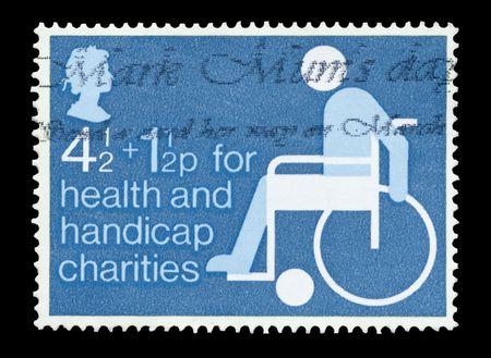 British fundraising mail stamp on behalf of health and handicap charities photo