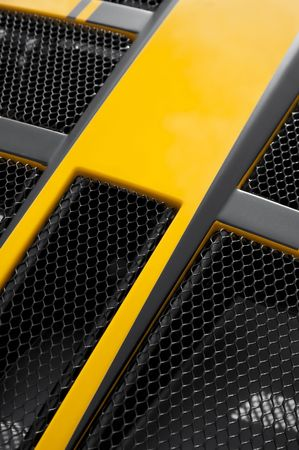 yellow and black luxury sports car engine panel abstract Stock Photo - 6746212